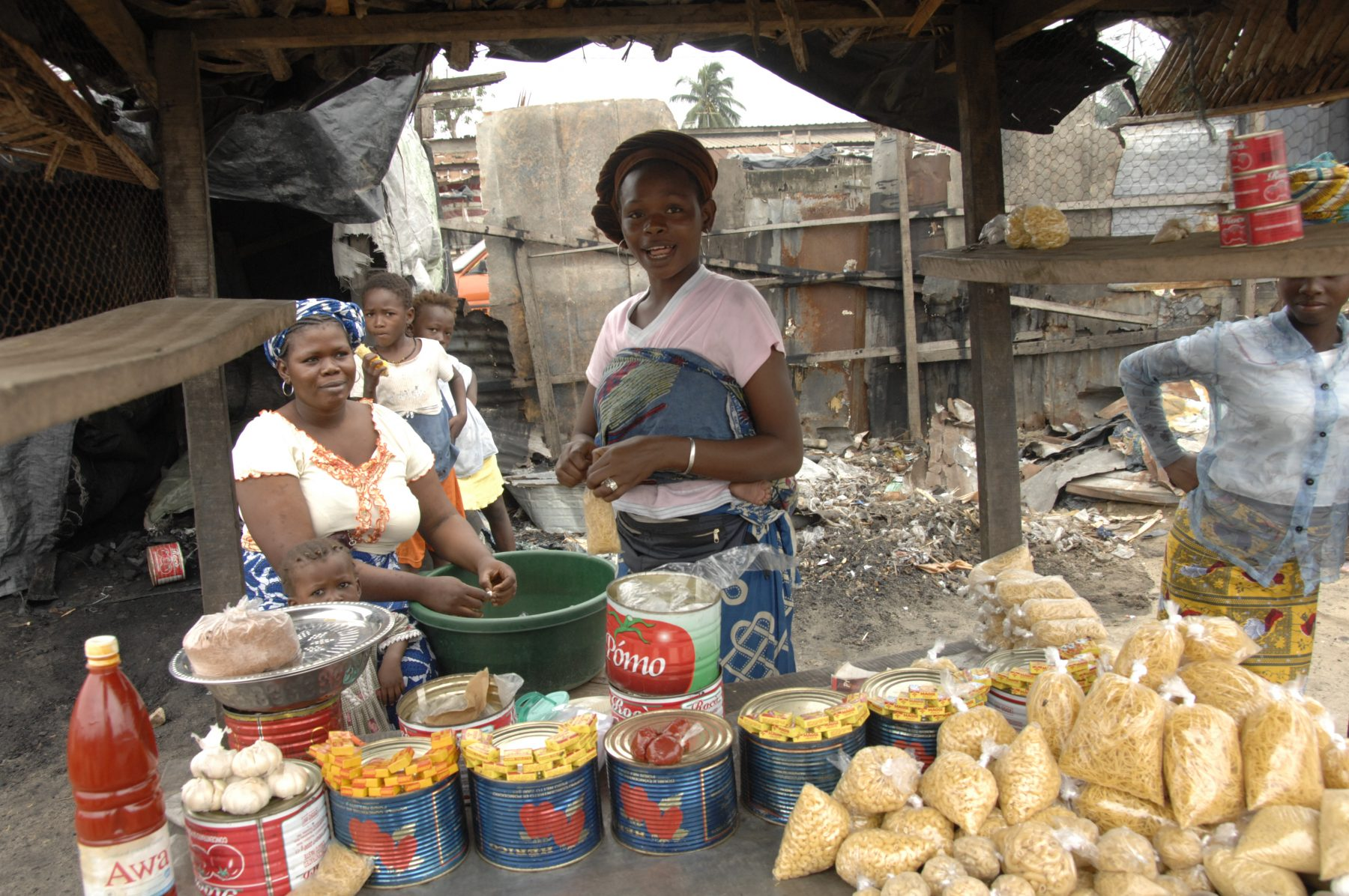 """Cite Houphouet Boigny"", one of 11 or more slum areas in the region of the city of Abidjan. Some of the residents have come to the area because of civil strife in the northern region of the country, others have come from nearby countries such as Mali and Burkina Faso seeking work. The government plans to raze many of the informal settlements in the coming months which are built on ground that is unstable because of rain wash or because they are too close to the ocean's edge. Meanwhile, there is no plan to resettle the displaced. HFH Cote d'Ivoire has planned a pilot program in another urban slum in the next fiscal year to show what kind of work can be done to help the housing situation of similar populations. (substand/ poverty housing)(country formerly IVORY COAST)"