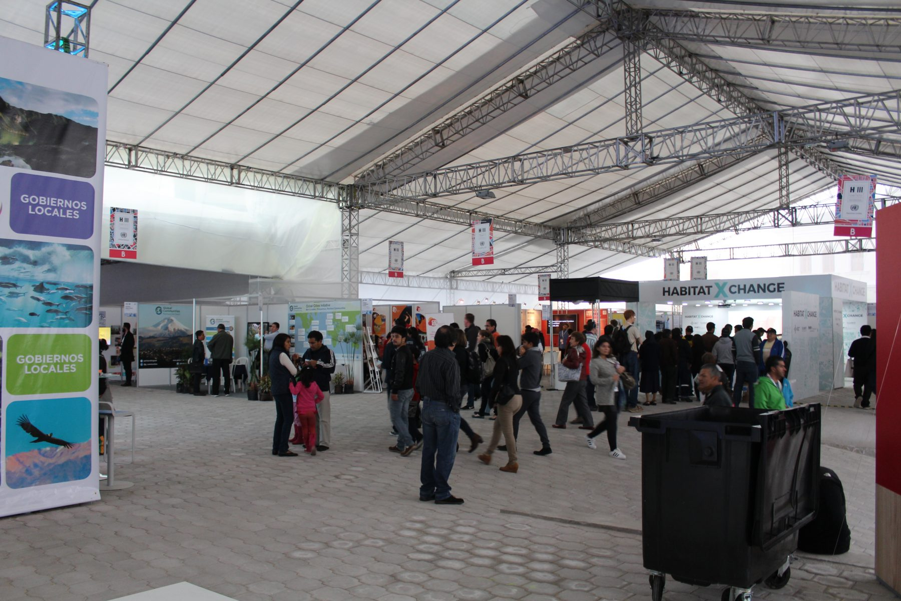 The exhibition tent at Habitat III